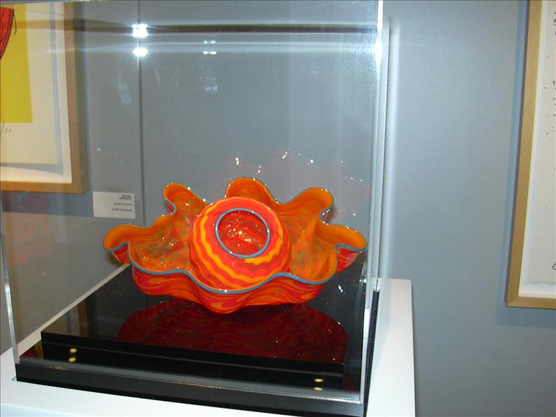 one of many GLASS sculptures on exhibit at the Gardens, St. Louis, Missouri, U.S.