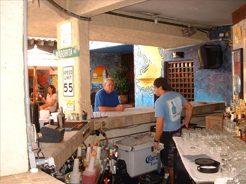 Mark at bar, Cabo Wabo, Cabo San Lucas,MX