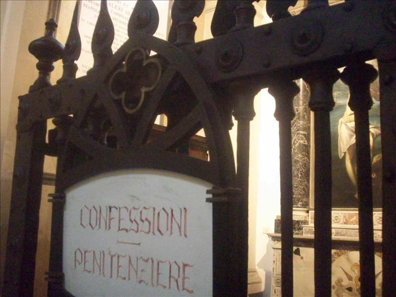 My new fave thing : Confession booths.
