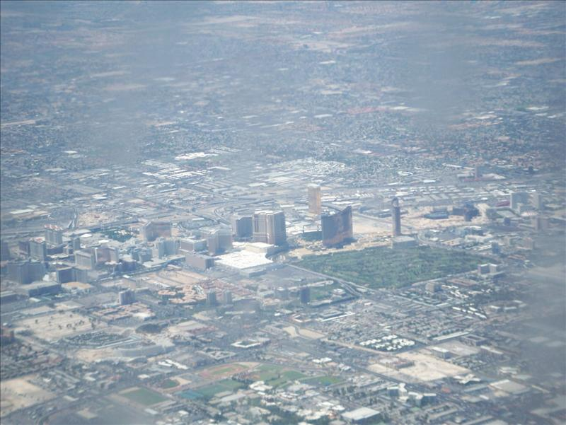 """The Strip"" from the air as we came into land"
