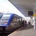 第二次搭火車,這種是車廂很短的區間車