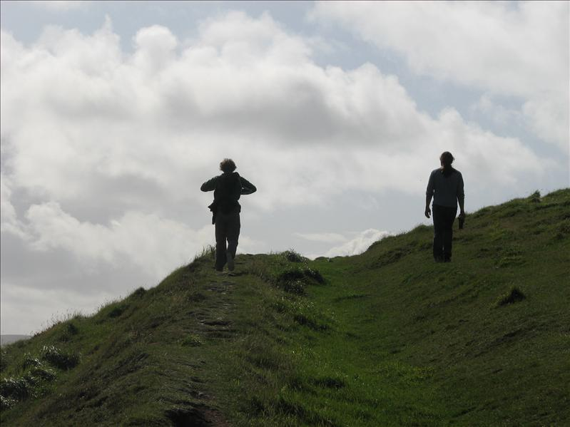 Climbing up the hill