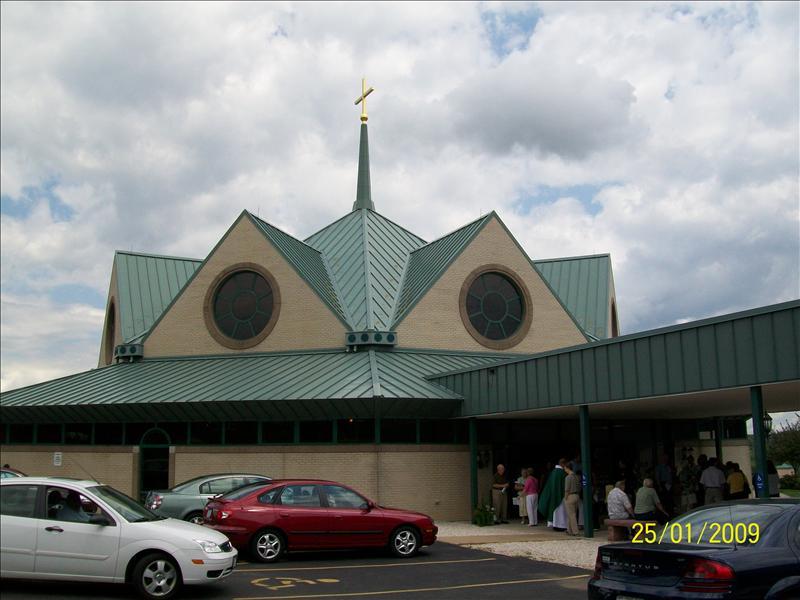 Leaving St. Joseph's Church in Imperial, Missouri