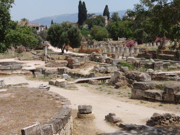 remains of the agora