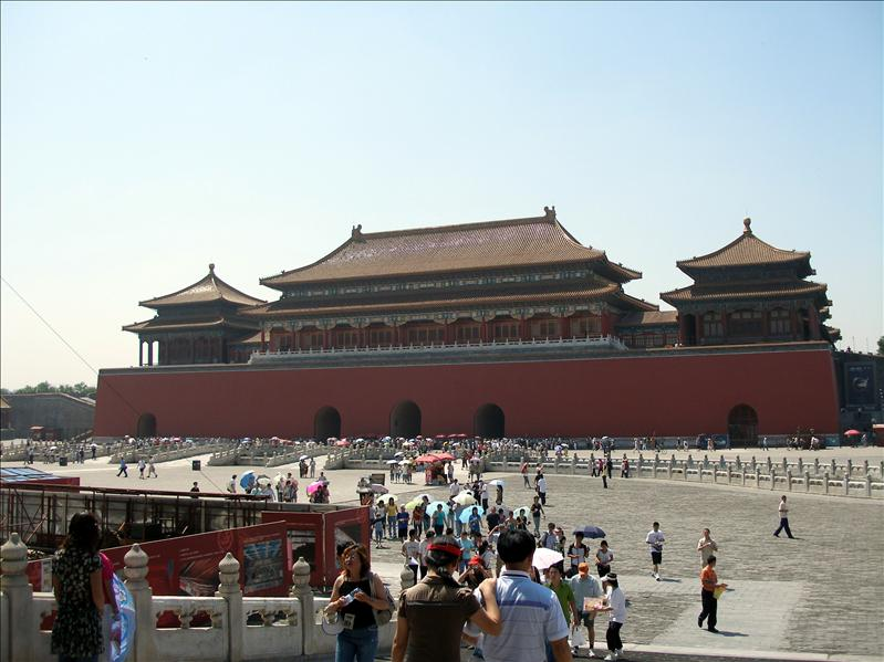 Forbidden City. The paint job was a no-brainers, RED! Theres probably a few zillion gallon of red paint in the service storage.