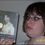 Ashley with her Zombie book.JPG