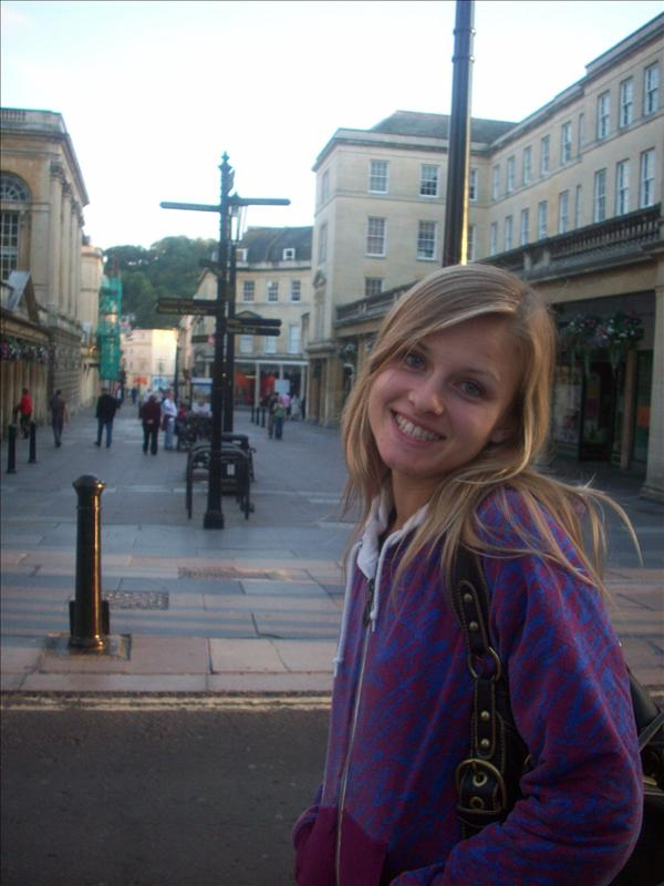 Jess in Bath's streets