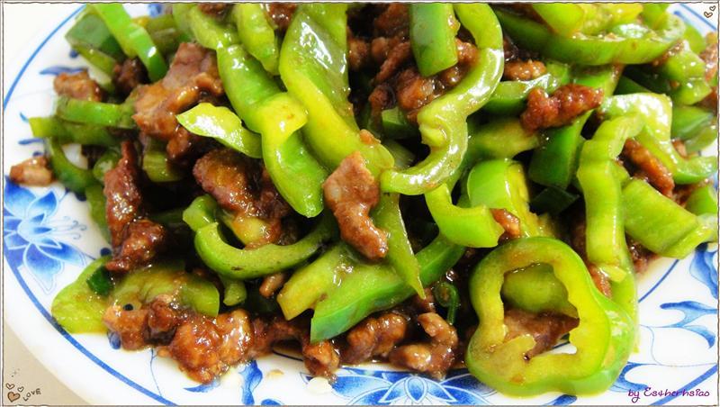 青椒炒牛肉特寫
