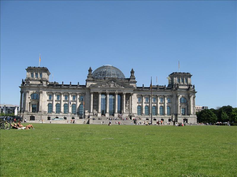 Outside the Reichstag