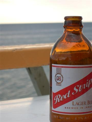 Red Stripe and Jamaica ~ they go hand in hand