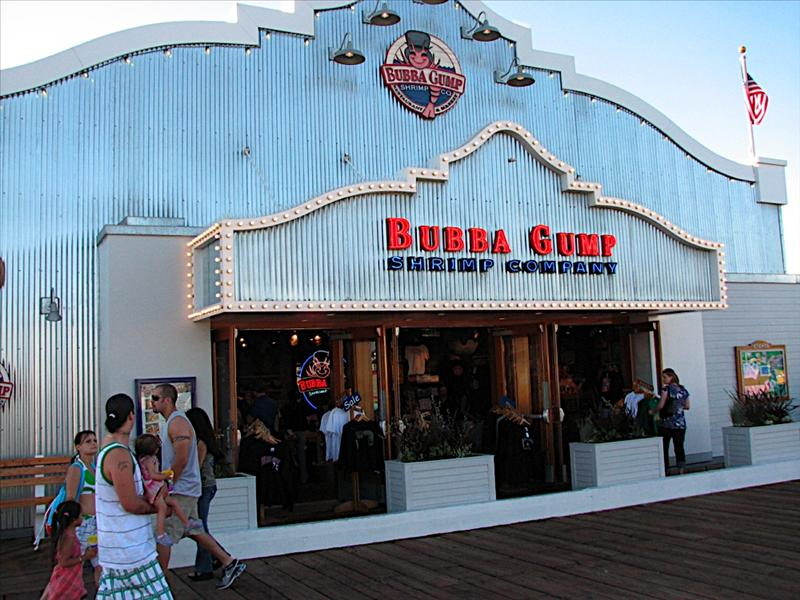 Bubba Gumps on the Santa Monica Pier