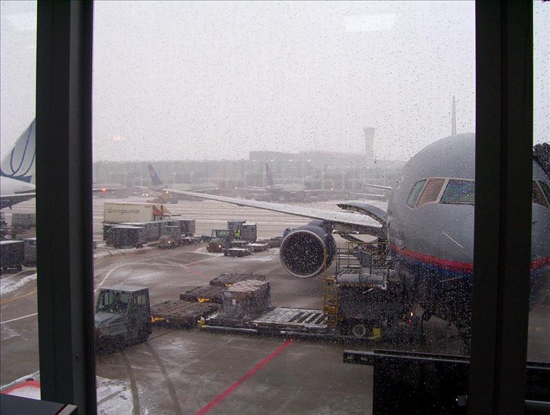 Snowy Plane