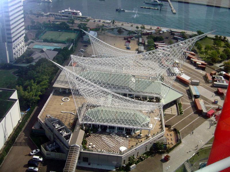 view of Kobe Harborland (shopping ,exhibition and bay cruise area)