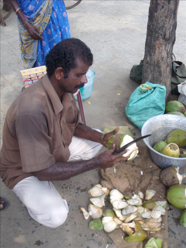 Coconut milk, plus soft, sweet malay (flesh).