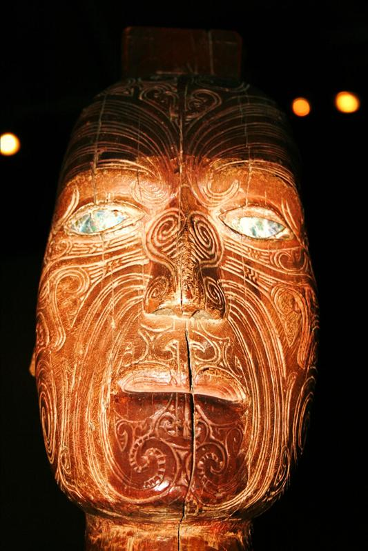 One of the beautiful masks, at Te papa museum, Wellington.