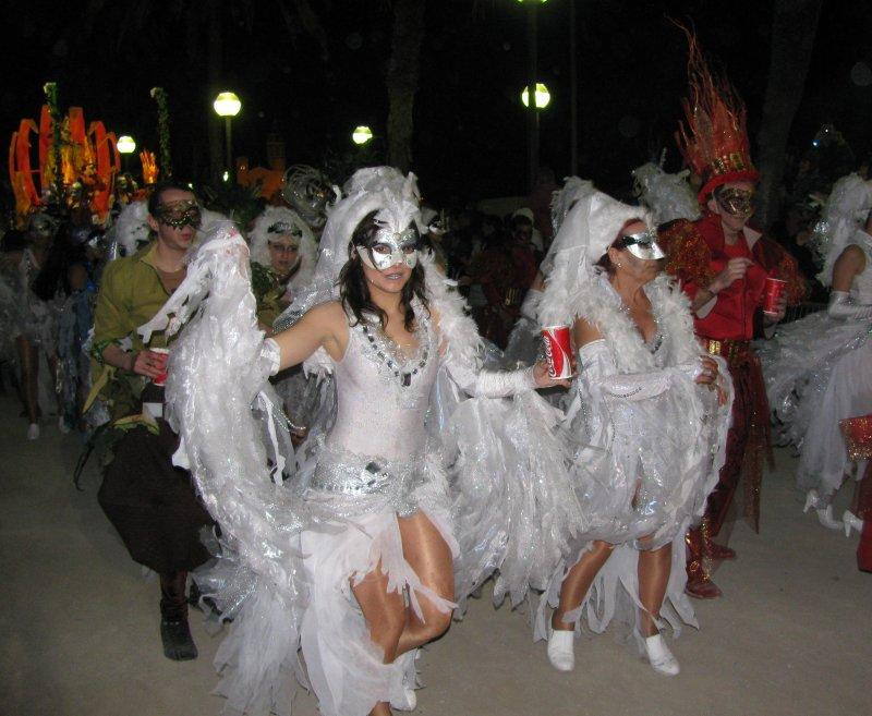 .. a flamboyant Mardi Gras parade ....