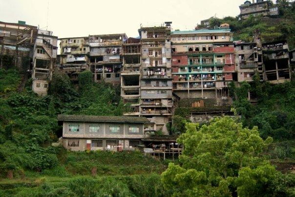 BANAUE TENEMENT - I STAYED IN THE MIDDLE (TALLEST) BUILDING)