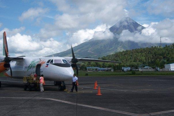 MOUNT MAYON FROM LEGASPI AIRPORT