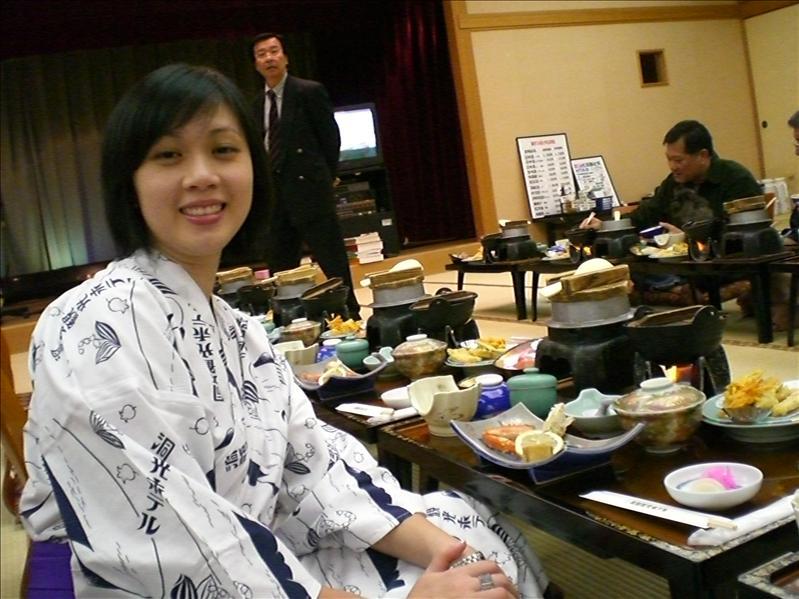 Dinner after onsen