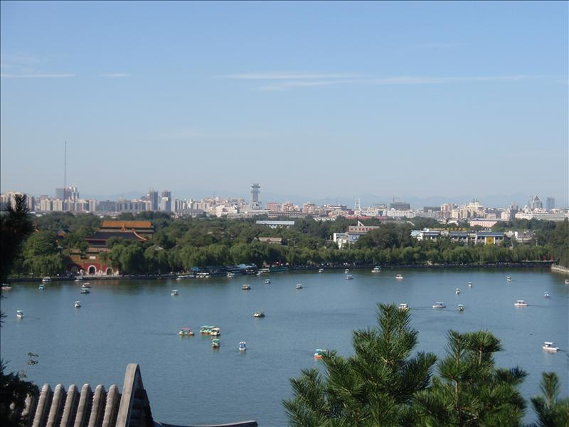 Looking down on the lake in Beihai Park