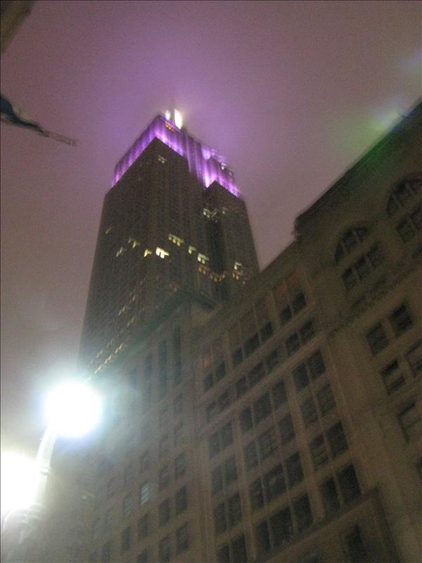 empire state building was niet te beklimmen vandaag vanwege weer