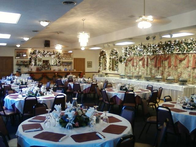 the captivating banquet room