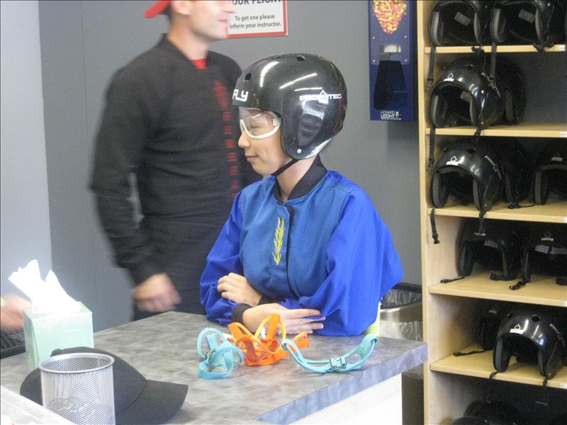 Helmet on, goggles on, jump suit on