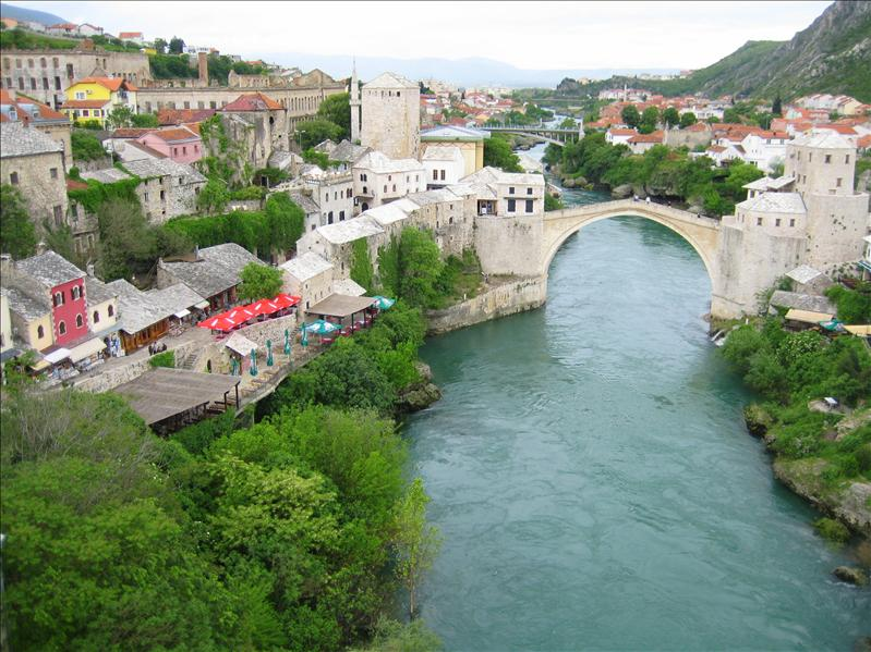 Stari Most from the Mosque