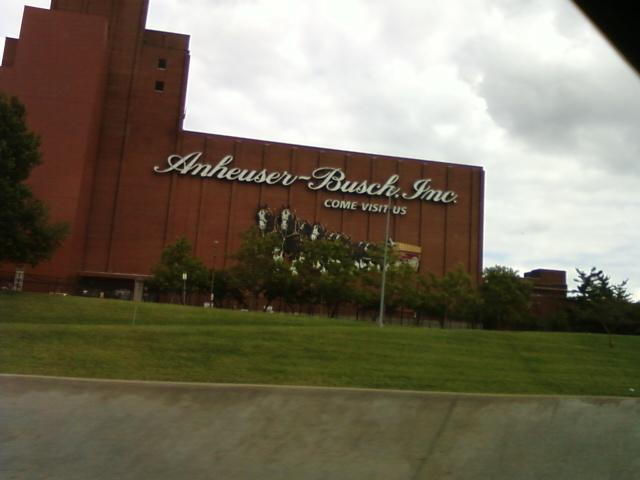 as seen on southbound I-55 is the Anheuser Busch Brewery