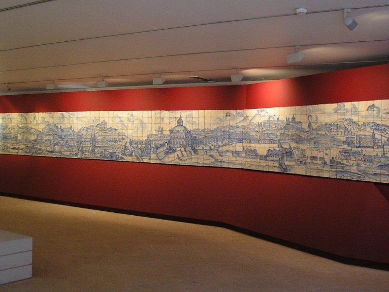 Tiled panorama of old Lisbon.
