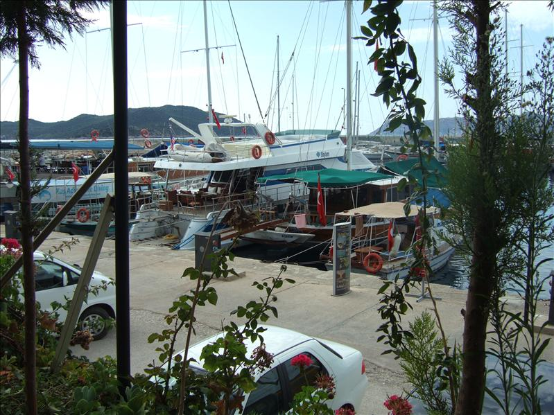 View over Kas Harbour from Sultan Garden Restaurant