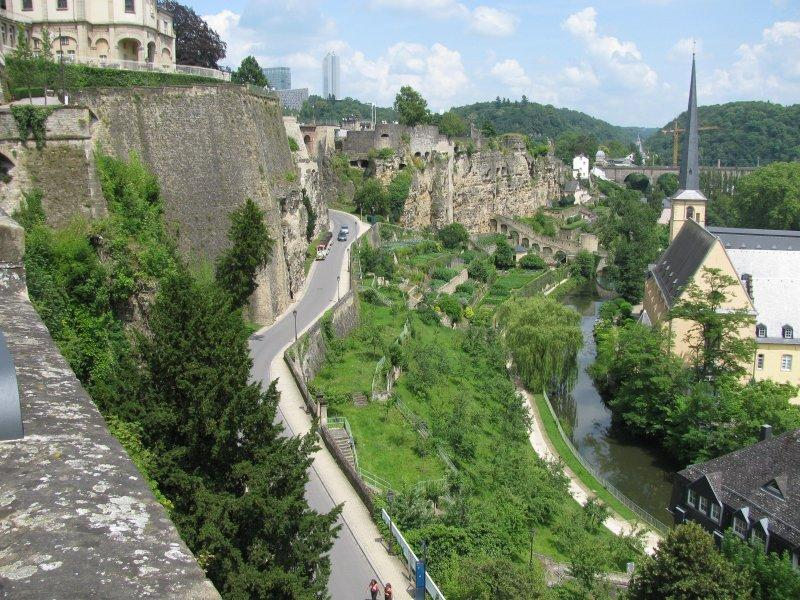 The city of Luxembourg has an upper and a lower town.