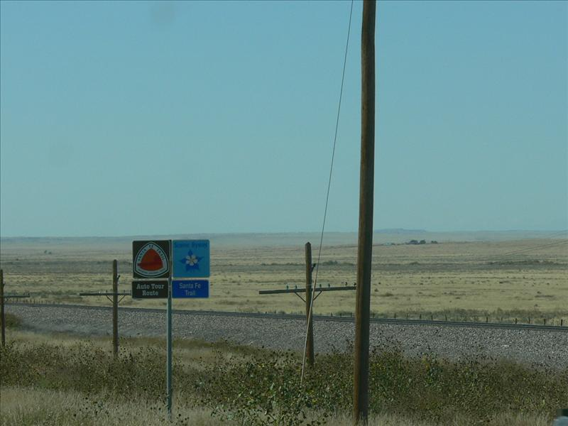 Santa Fe Road tour Sign