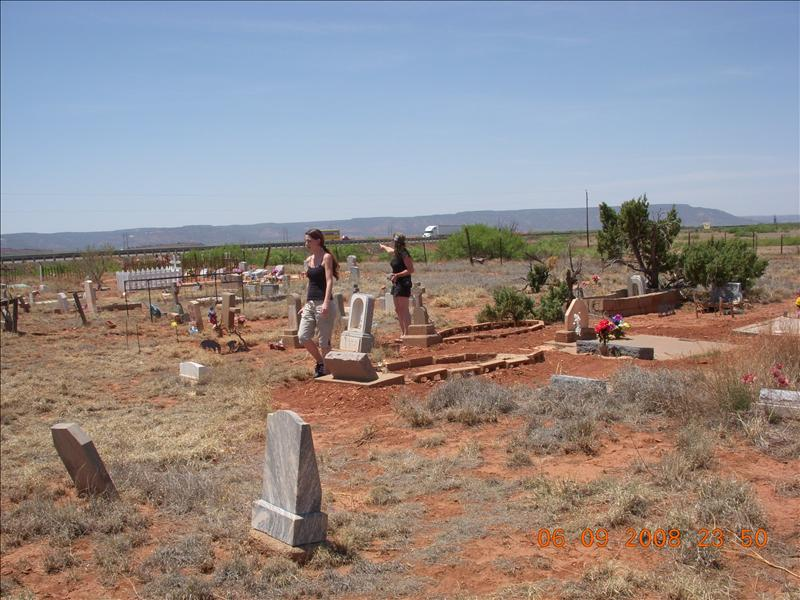 We stopped at this old graveyard in Monterey, NM.  It was in the middle of nowhere, but the dates were from the mid 1800's through recent years.  Some of the grave markers seemed extremely old.  We saw one where the person died in 1919.