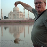 Me holding the Taj (and not sucking it in)
