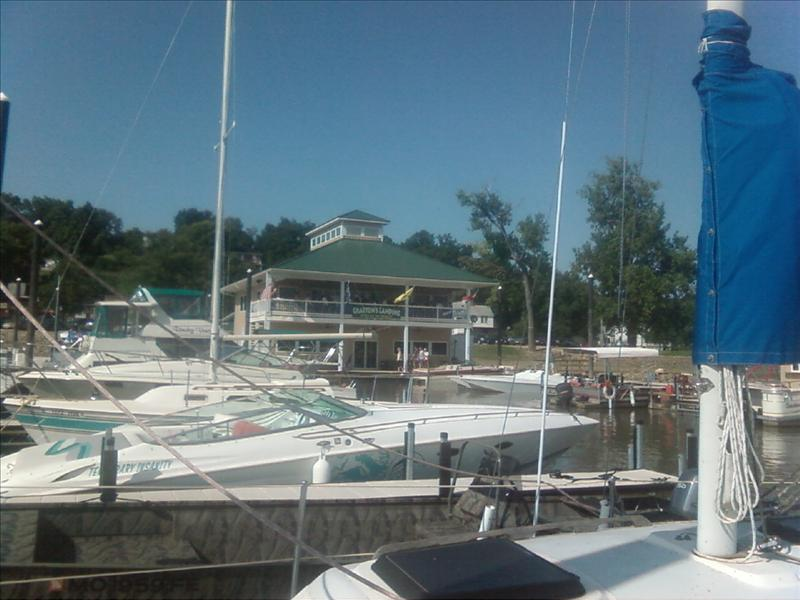 Newly constructed Grafton Marina is on the Mississippi river