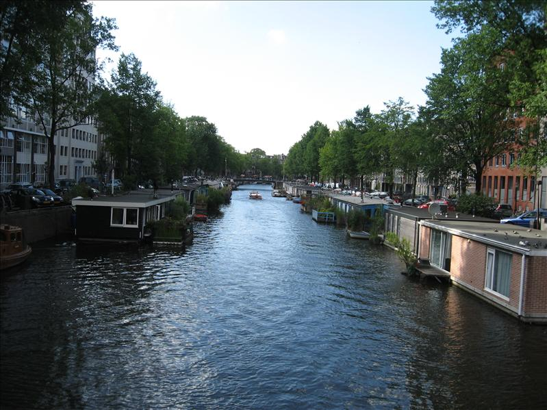 Canal and floating houses