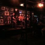 a house Irish group performs on slow nights with real Irish groups later in the week