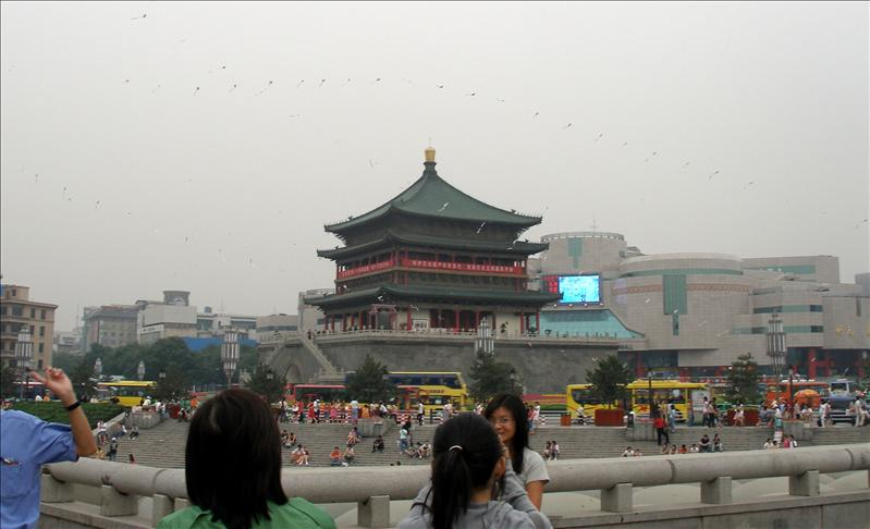 The Bell Tower of Xian, built in 1384.