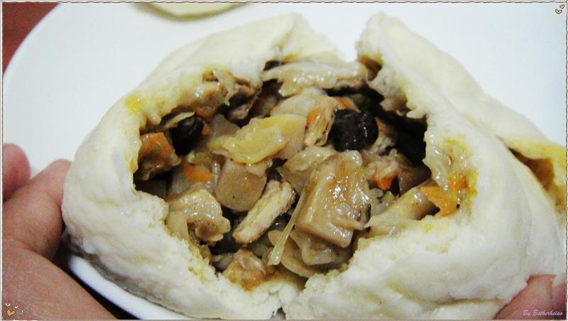香菇竹筍菜包斷面-3