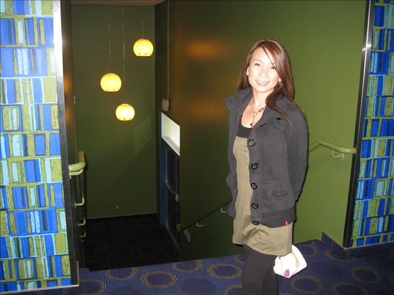 the bathroom area of cinerama