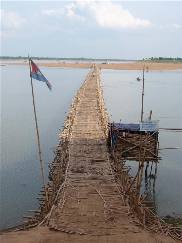 Bamboo bridge in Kompong Cham
