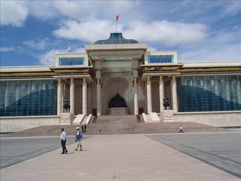 Government House on Sukhe Baatar Square