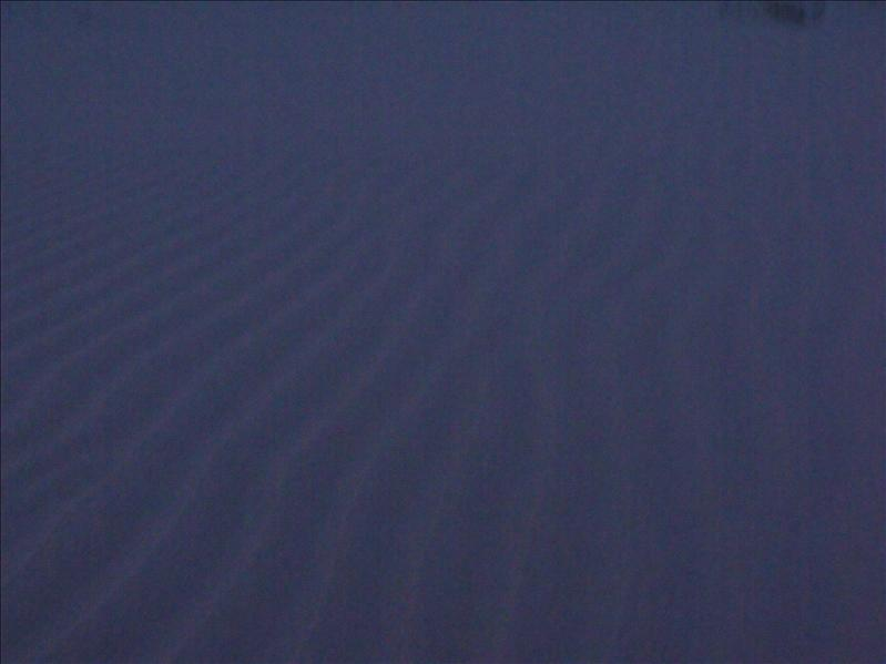 Waves of sand from the wind, which is constant