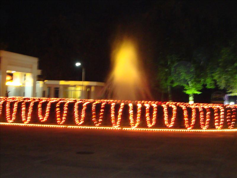 Fountain in entrance of Chinese Embassy