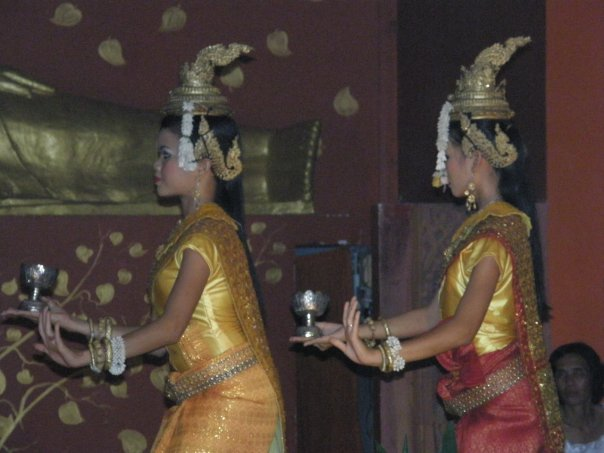 Aspara dancing at the Temple Club in Siem Reap.