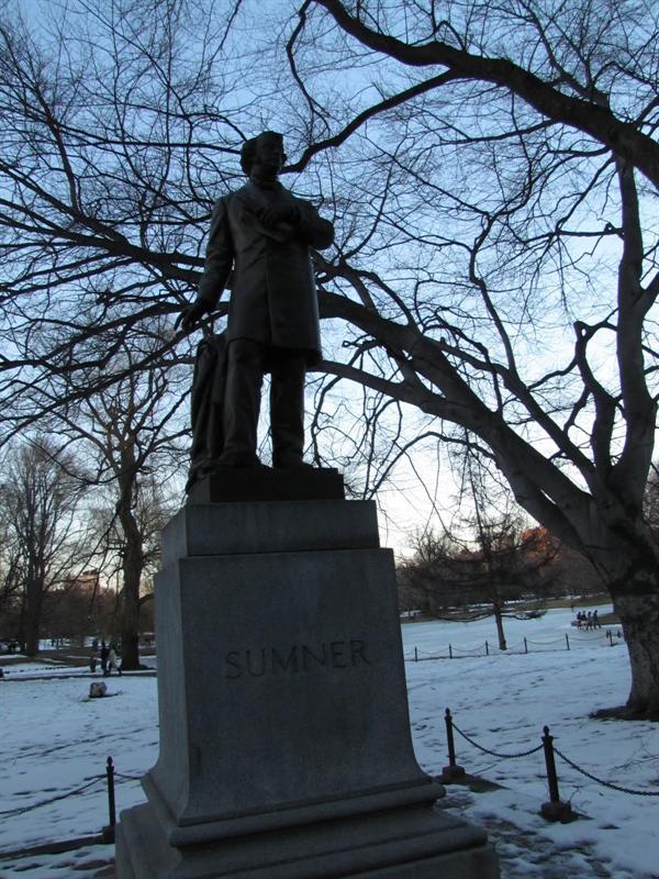 Boston Public Garden - Charles Sumner