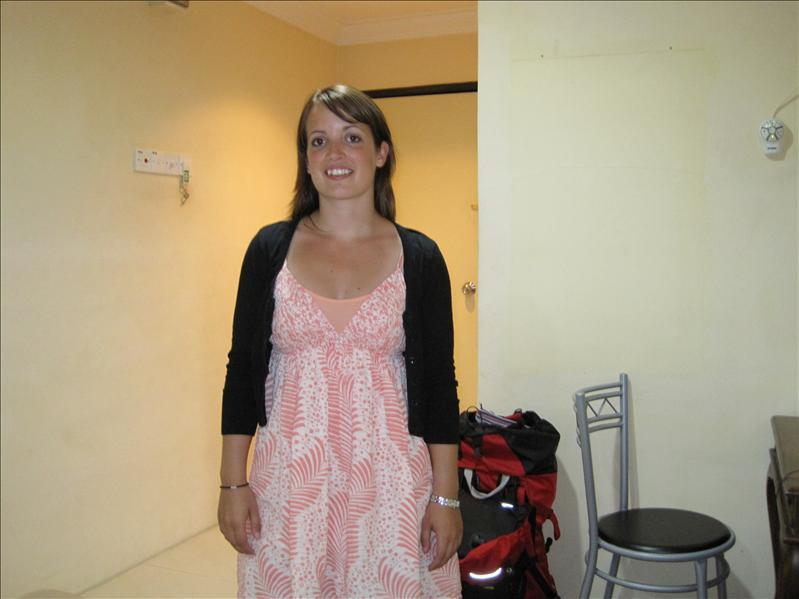 Her er jeg på vores hotelværelse