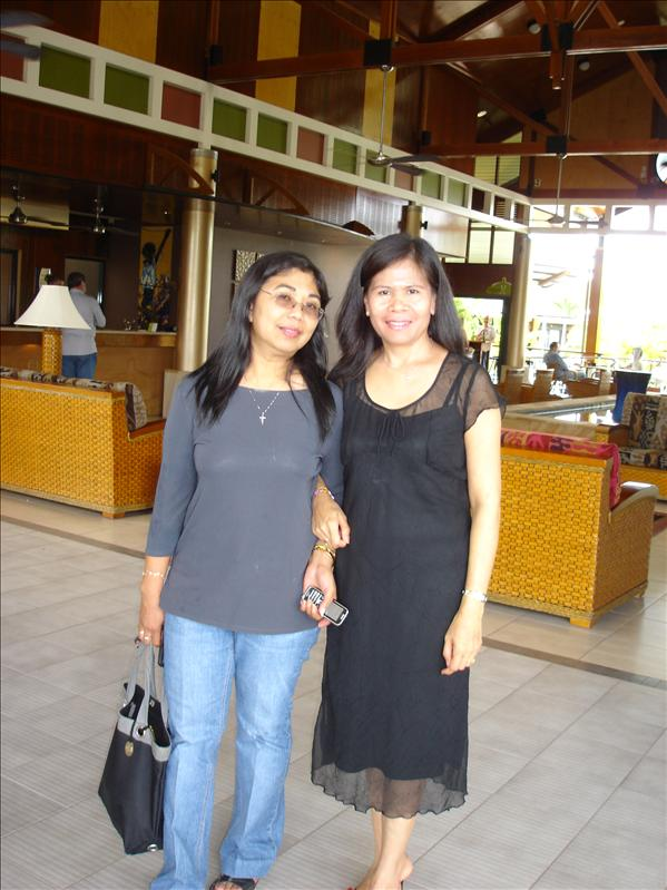 I and Elvie at Darwin Airport Resort Hotel Lobby