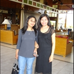 I and Elvie at Darwin Airport Resort Hotel Lobby